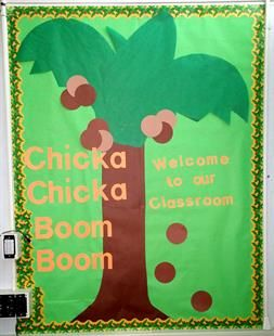 Create a welcoming display for your classroom using a children's literature favorite! What child doesn't have memories of reading Chicka Chicka Boom Boom? That's one of the reasons we love this idea...