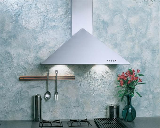 Broan Wall Mounted Rectangular Flue Vent Range Triangular Hood In Stainless  Steel