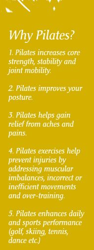 "Pilates coursework one hour a week is on my new ""to do"" list. Learning and improving my body and mind is an exciting prospect! #pilates"