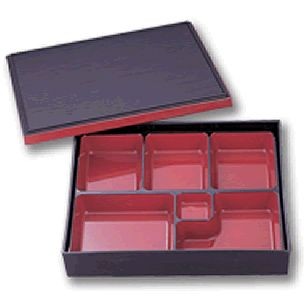 Bento Box Black & Red Traditional      Availability : In Stock     Dimentions : 314mm x 259mm     Pieces Per Item : 3     Colour : Red & Black     Material : ABS & Melamine     Finish : Laquer     Item Code : D5-1025     Weight : 1115g  Price : $34.95