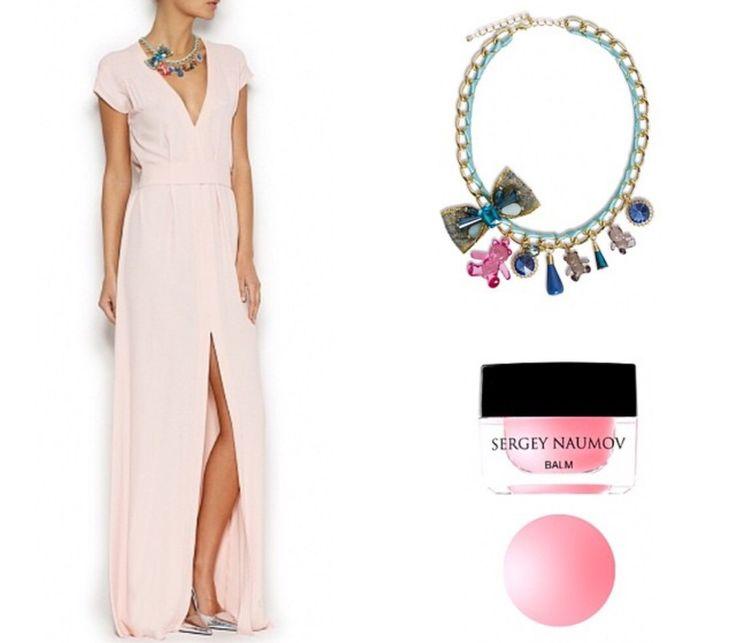 Dress one длинное платье в пол и круглое колье