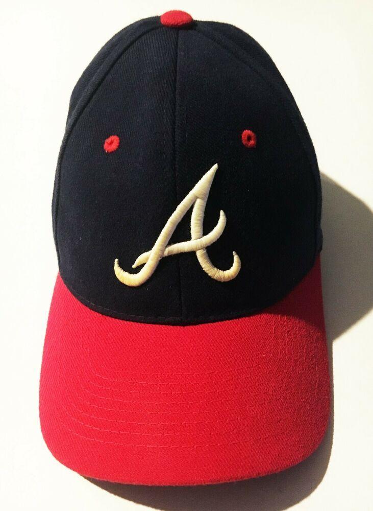 Atlanta Braves No 1 Brand Logo Navy Blue Red Baseball Cap Hat Osfa Adjustable No1 Baseballcap Reds Baseball Atlanta Braves Caps Hats