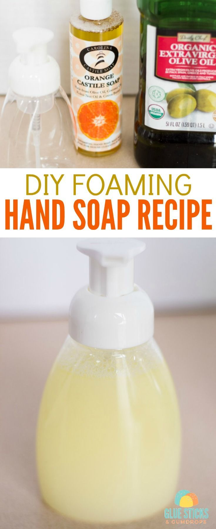 Using only 3 simple ingredients, you can make this DIY Foaming Hand Soap for a fraction of the cost you'd spend on other soaps, and it's made with organic ingredients you can feel good about.