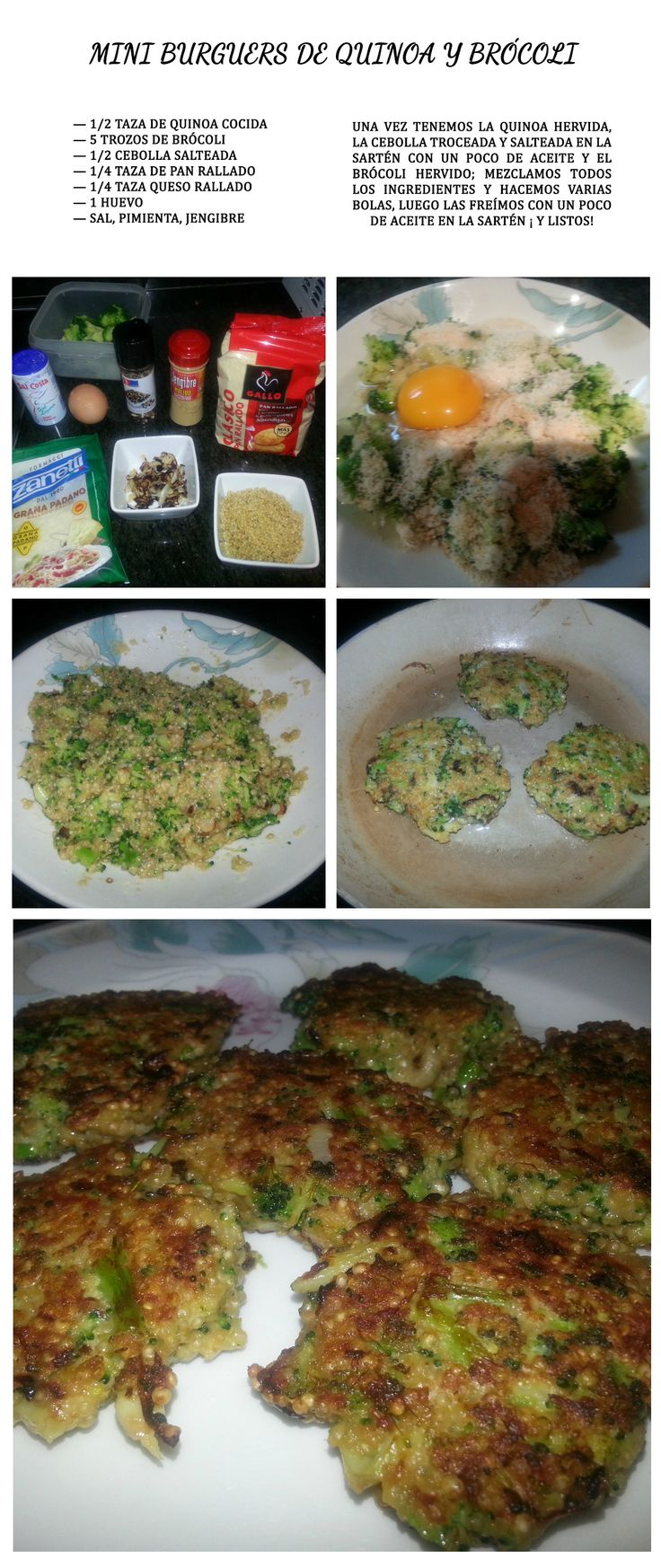 Mini burguers de quinoa y brócoli~  #quinoa #brocoli #vegano #vegetariano #ecologico