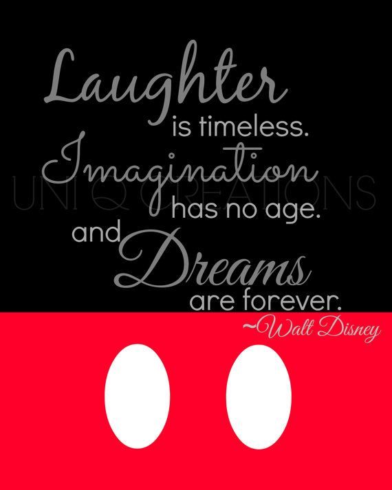 Walt Disney Quote Print Digital Art Wall Art 8x10 by UniQCreations