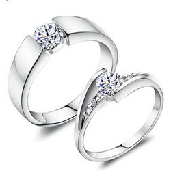 Online Shop S925 ring wedding ring gift women's male pure silver ring lovers ring(The price of a single)|Aliexpress Mobile