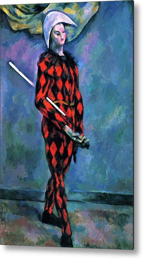 Harlequin 1890 Metal Print By Cezanne Paul In 2018 Pixbreak Art