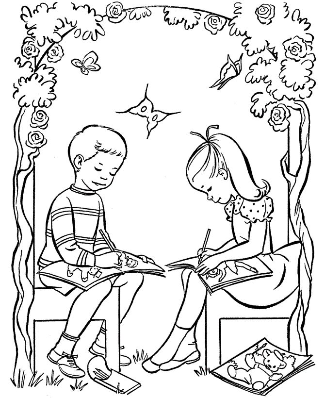 boyfriend girlfriend coloring pages - photo#46