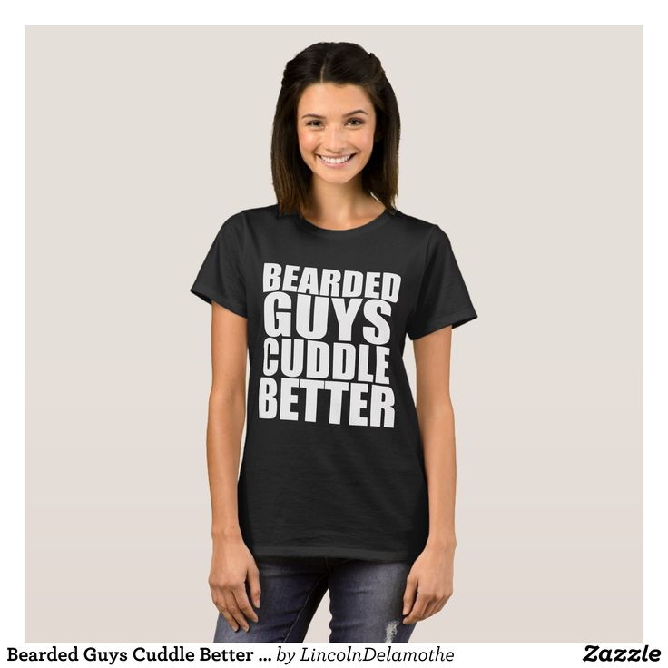 Bearded Guys Cuddle Better Funny Cute Boyfriend Va T-Shirt - Fashionable Women's Shirts By Creative Talented Graphic Designers - #shirts #tshirts #fashion #apparel #clothes #clothing #design #designer #fashiondesigner #style #trends #bargain #sale #shopping - Comfy casual and loose fitting long-sleeve heavyweight shirt is stylish and warm addition to anyone's wardrobe - This design is made from 6.0 oz pre-shrunk 100% cotton it wears well on anyone - The garment is double-needle stitched at…