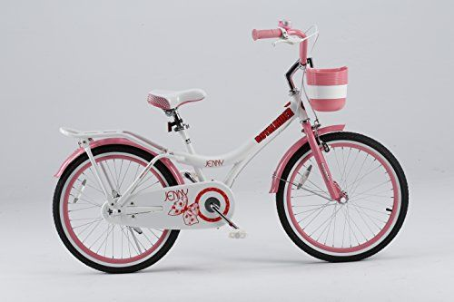 Royalbaby Jenny Princess Pink Girls Bike with Kickstand and Basket Perfect Gift for Kids 20 inch wheels