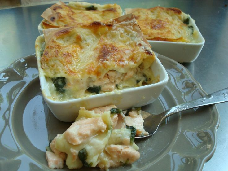 Salmon lasagne from Cooking in Provence