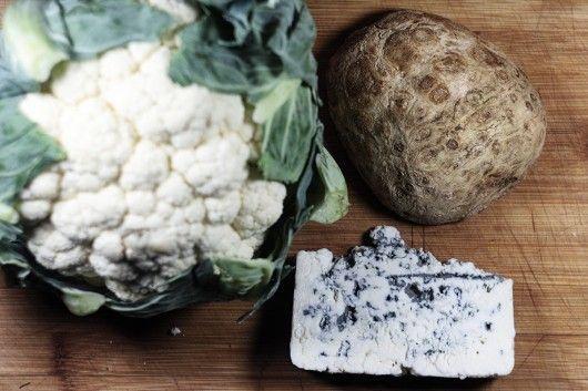 Пюре из цветной капусты с сельдереем и сыром