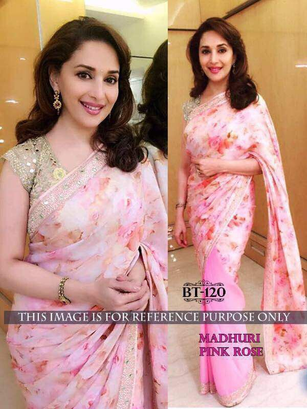 Georgette saree with net and raw silk blouse For queries ,price :WhatsApp or DM :+919100476654 Visit us at : m.facebook.com/aditieliteboutique  Instagram :- Aditi Elite boutique