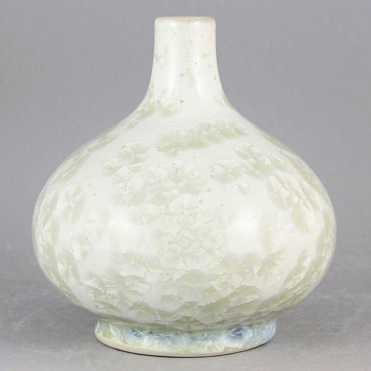 Anders Johansson (1980s) Unique Mesmerizing Crystalline Vase