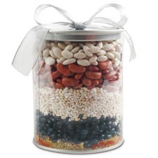 Southwestern Three-Bean & Barley Soup Mix Recipe. Great housewarming, hostess, Christmas or new baby gift.