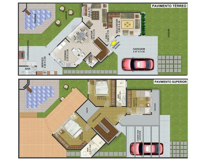 Usar uma planta de sobrado em terreno 10X20 certamente permitirá a construção de um imóvel bem amplo, dependendo da área construída, com isso, fica mais fá