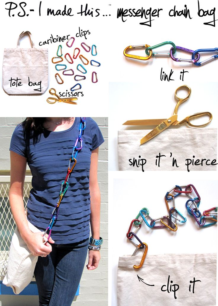 Clip It!: Crafts Ideas, Straps Bags, Diy Crafts, Messenger Bags, Totes Bags, Key Holders, Crafts Tutorials, Keys Holders, Diy Projects