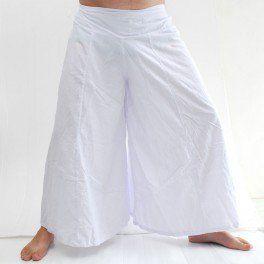Samurai pantalón de algodón blanco