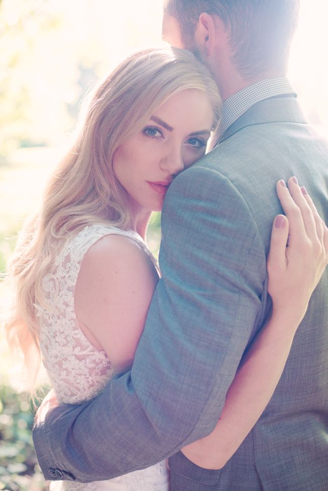 An Angelic Sunlit Field Bride & Groom portrait session by Melissa Gidney Photography