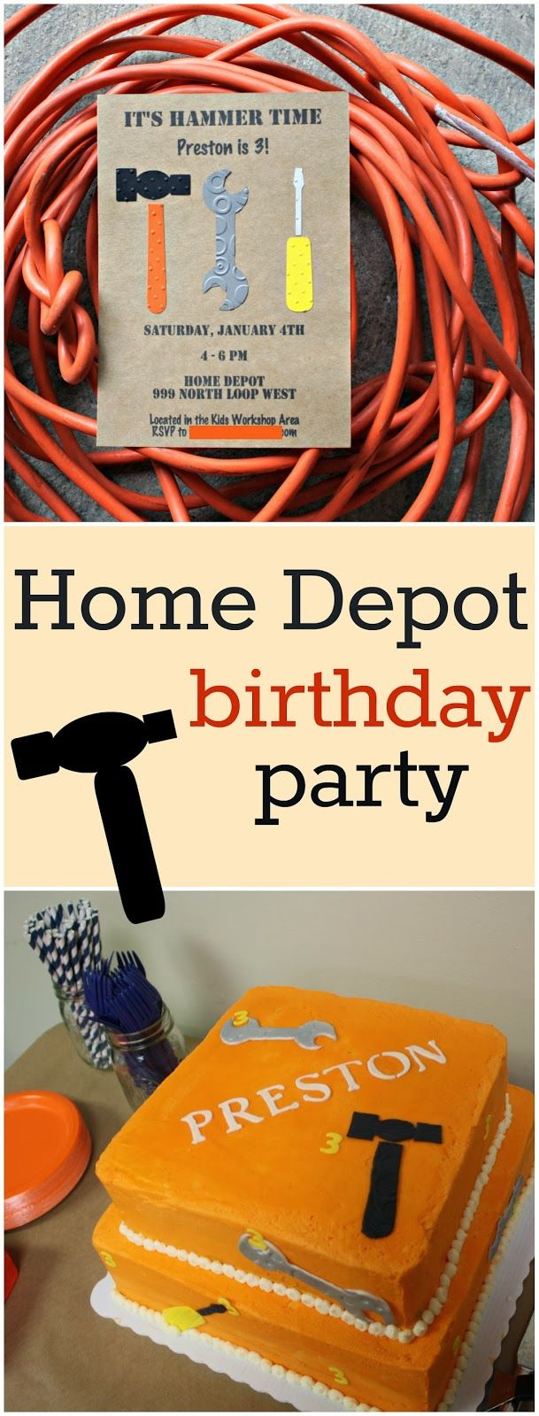 Home Depot birthday party