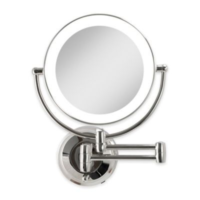 Zadro Dual Sided Round Led Lighted Wall Mount Mirror In In