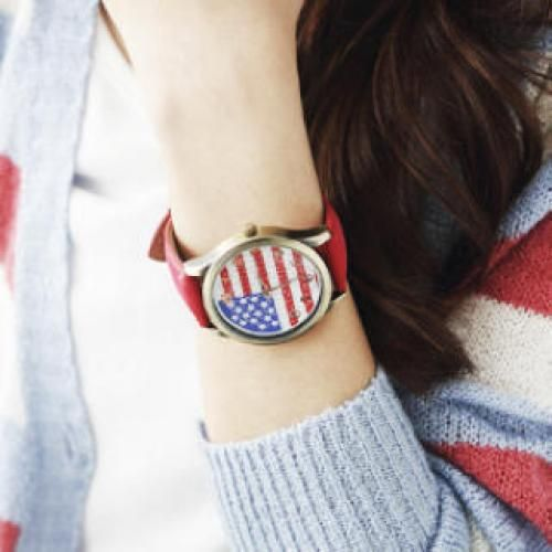 National Flag Strap Watch