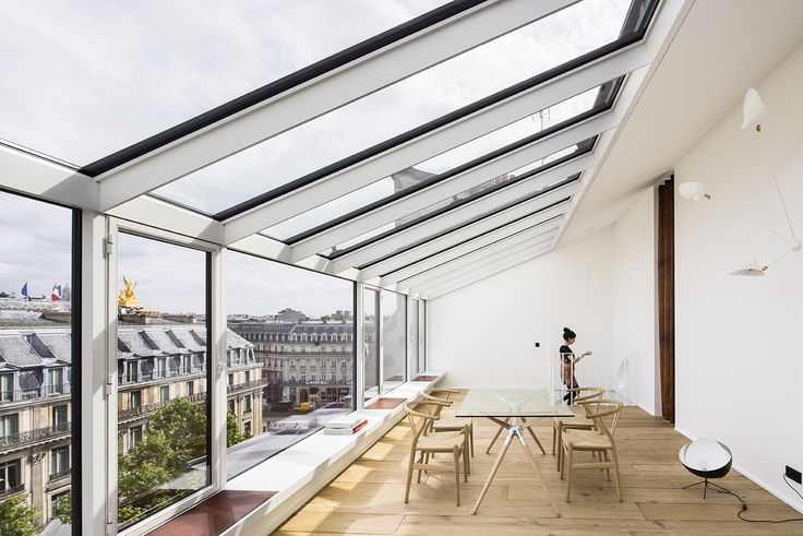 Completed in 2016 in Paris, France. Images by Luc Boegly  . The renovation of an old 19th century photography studio in the heart of the Opera Madeleine haussmannian district, into two prestigious private...