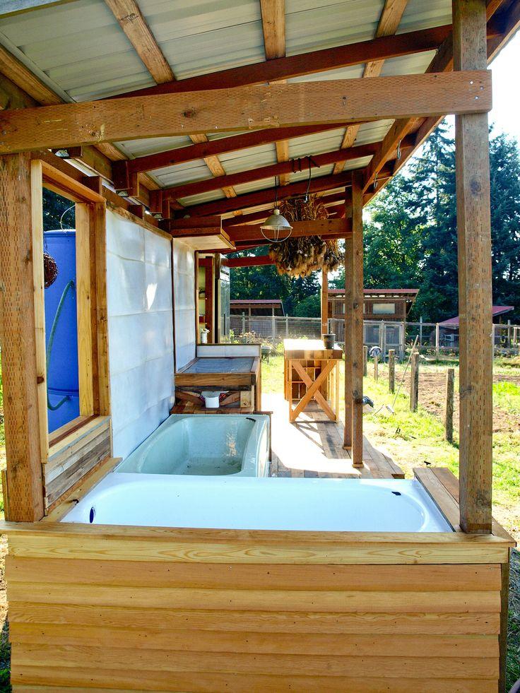 37 best Wash Station images on Pinterest | Outdoor garden sink ...