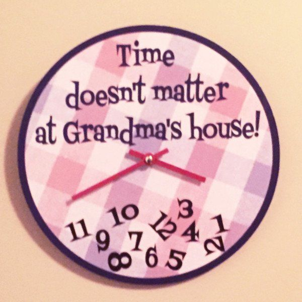 Time doesn't matter at Grandma's house! When you're playing or chatting or just cuddling, it's not fun to watch the clock... except THIS clock! Grandchildren will feel so important as you give them yo