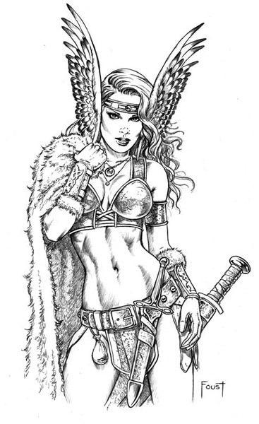 Freya warrior sketch