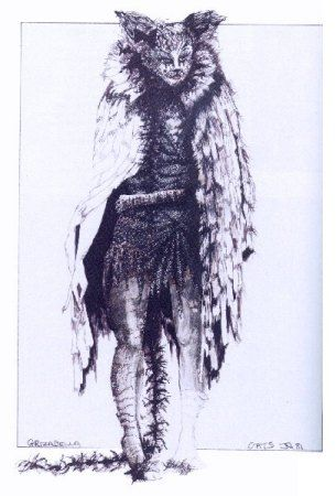 John Napier's sketch of Grizabella's costume