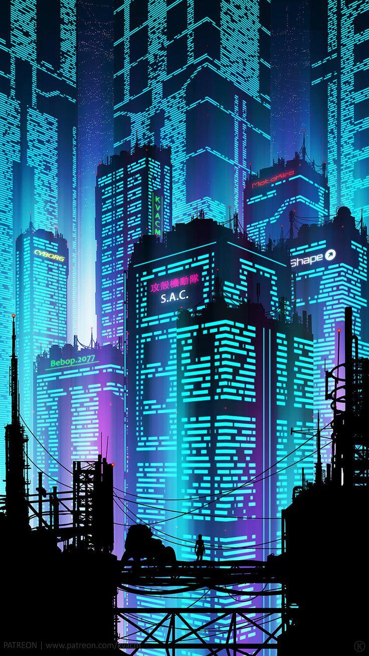 Cities In The Future #cyberpunk #cyberpunk2077 #art #scifi