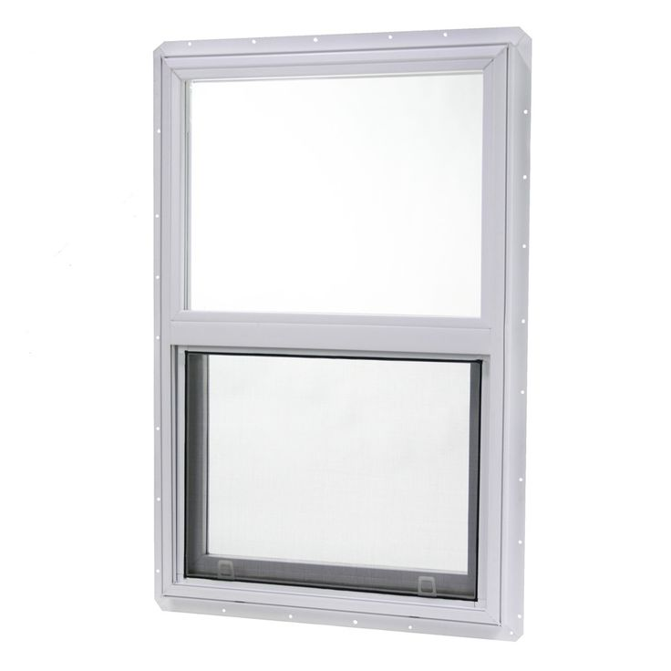 Project Source 20000 Series Vinyl Single Pane Single Strength Single Hung Window (Rough Opening: 24-in x 30-in; Actual: 23.5-in x 29.5-in)