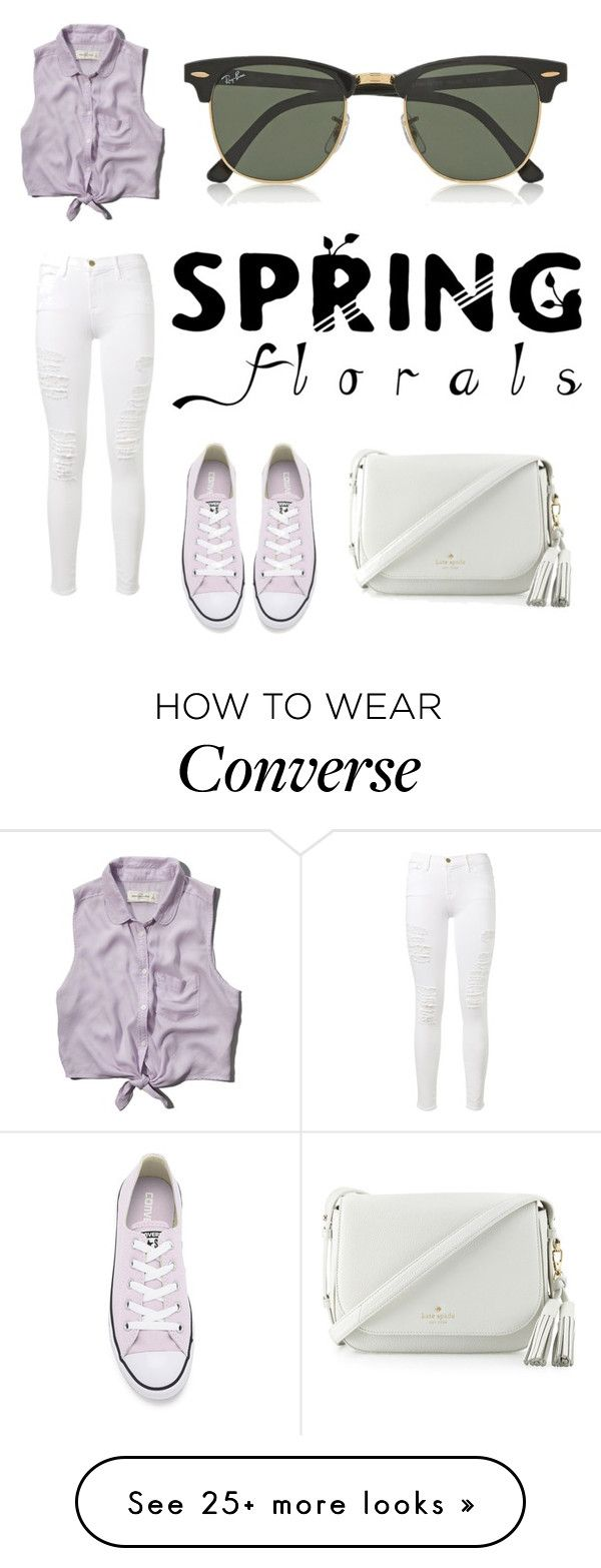 """No promises baby.."" by directioner1706 on Polyvore featuring Abercrombie & Fitch, Frame Denim, Converse, Kate Spade and Ray-Ban"