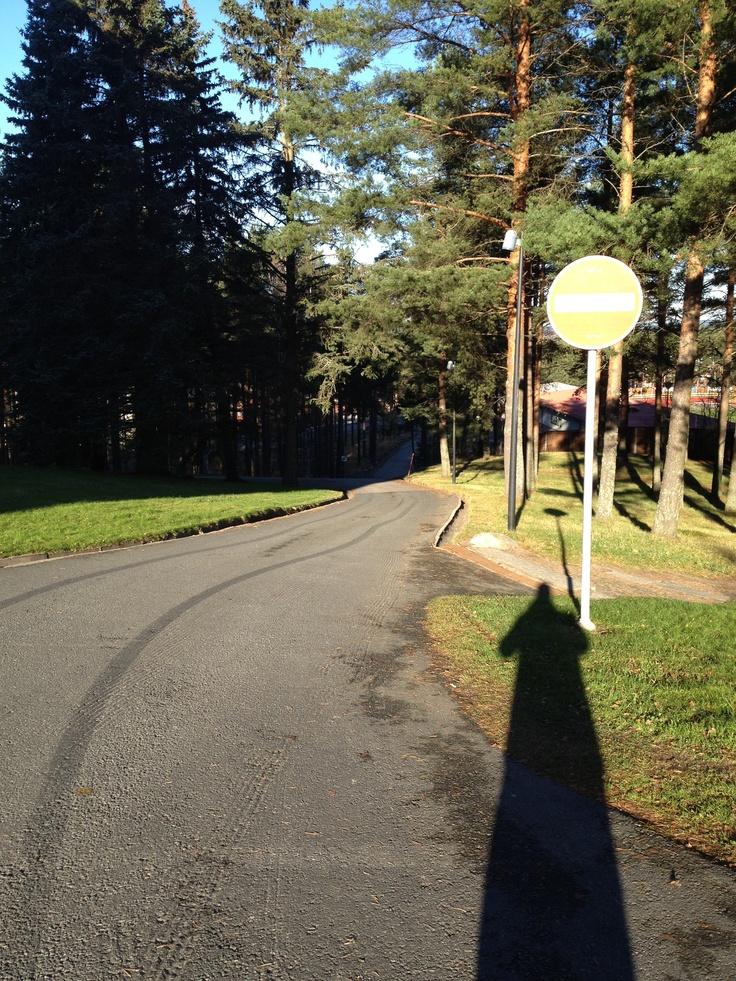 Ihantolantie from Vesilinna, Harju, Jyväskylä, Finland. October 2012.