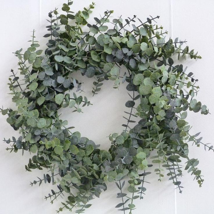 Christmas Wreath 60cm - Spiral Eucalyptus Wreath - £20.99 - - Wholesale Florist & Floristry Supplies