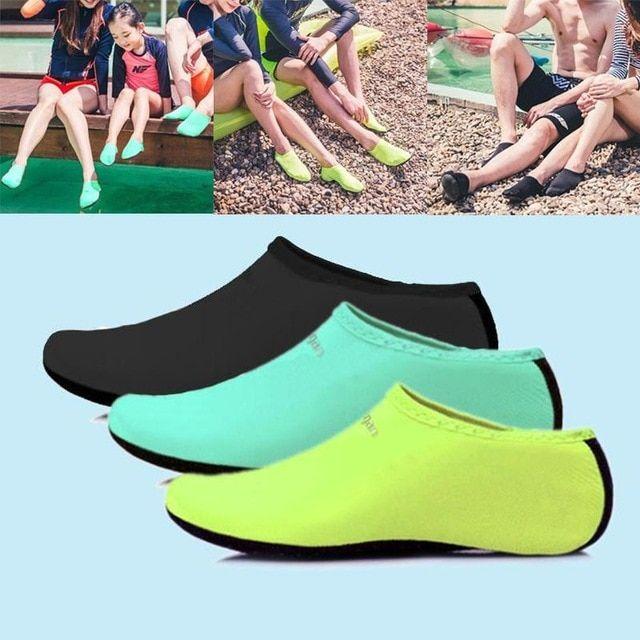 Men Women Water Shoes Aqua Sock Yoga Exercise Pool Beach Dance Swim Slip On Surf