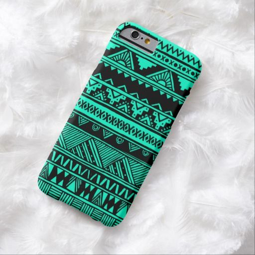 Awesome iPhone 6 Case! Turquoise Black Aztec Geometric Tribal Pattern iPhone 6 Case. It's a completely customizable gift for you or your friends.