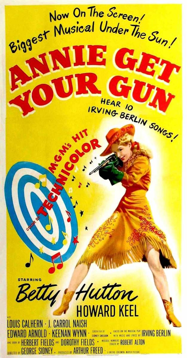 "La reina del oeste (1950)  ""Annie Get Your Gun"" - Reparto Betty Hutton, Howard Keel, Louis Calhern, J. Carrol Naish, Edward Arnold,"
