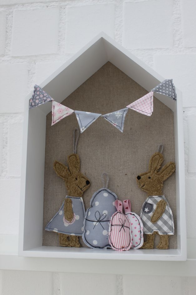 Osterhasen - Oster-Set♥ HasenFreunde♥ 6-teilig, in Wunschfarben - ein Designerstück von milla-louise bei DaWanda