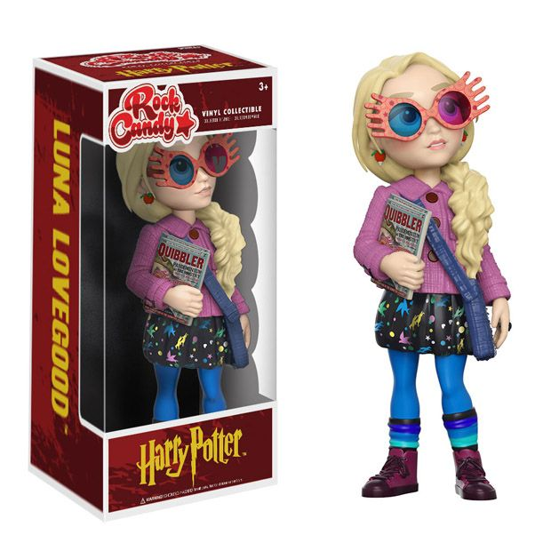 She's wacky and different, and now she's deliciously cute as the Harry Potter Luna Lovegood Rock Candy Vinyl Figure.  Based on Evanna Lynch's portrayal of the character, this stylized 5-inch vinyl figure of Luna Lovegood features the wacky witch wearing her Spectrespecs, the colorful glasses she w