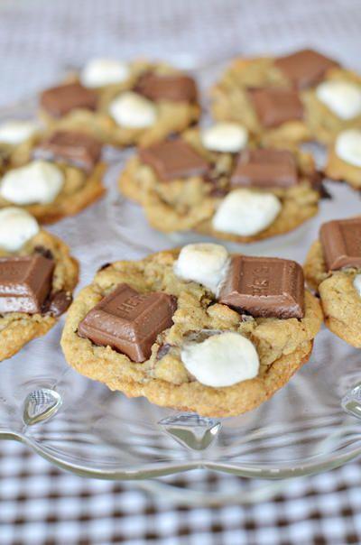 Smores cookies: best cookies ever!: Fun Recipes, Smore Cookies, Food, Cookie Recipe, Cookies Recipe, Holy Fatass, Smores Cookies, Dessert