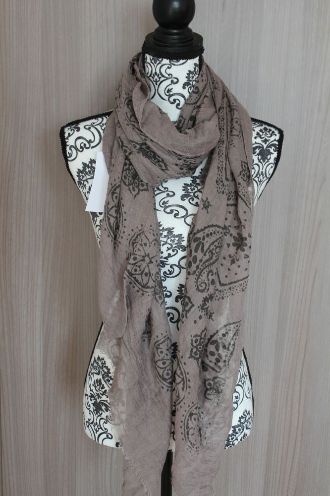 12b005e690b7 Maxi foulard 190 x80 scarf grande taille chale echarpes femme cheche brun  taupe