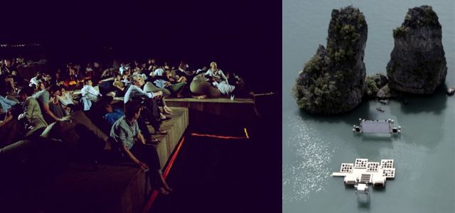 Floating cinema brings the silver screen to the sea
