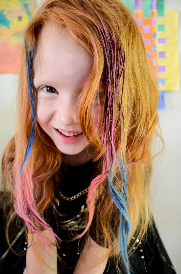 Hair Chalking Diy For Kids Summer Temporary Color Bright Colors How To Chalk Pink Purple
