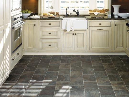 38122 ff lifetime sylvanova slate steel kitchen for Kitchen flooring types