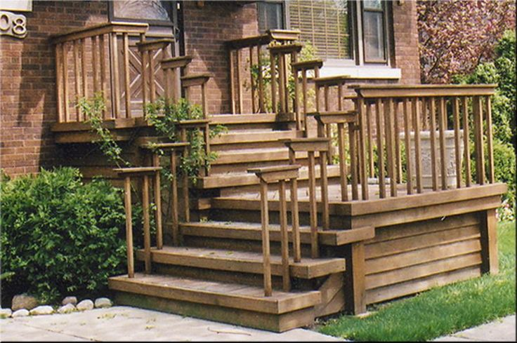 Architecture, Wooden Front Stairs Wooden Front Porch Steps Furniture Marvellous Front Porch Design Ideas With Brown Solid Wood Front Doors Design Fiberglass Front Door Decoration And Cream Stone Front Porch Step: The Construction Of The Front Step Ideas To Your Front Door