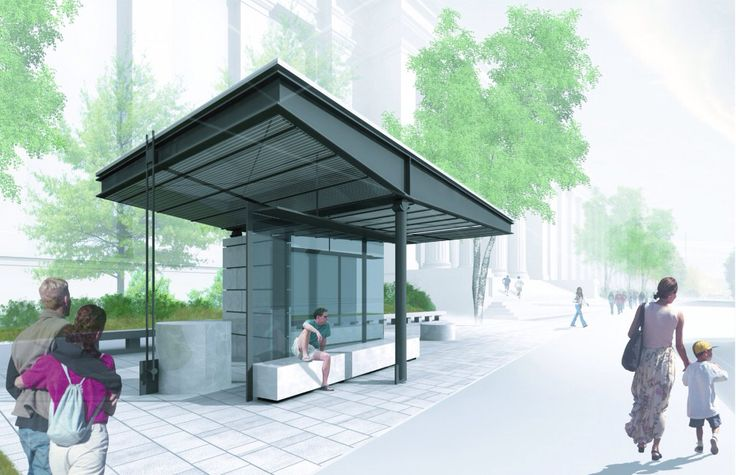 Architectural detail bus stop