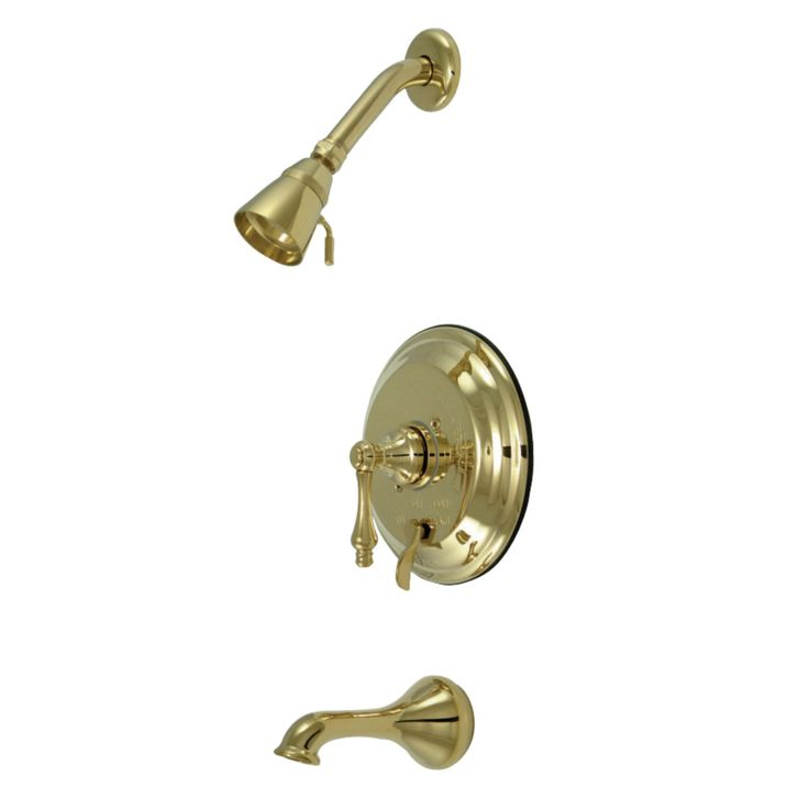 Kingston Brass KB36320AL Restoration Tub & Shower Faucet, Polished Brass - Price: $349.95 & FREE Shipping over $99     #kingstonbrass