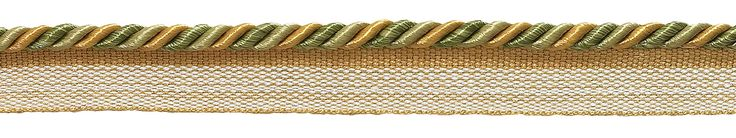 """10 Yard Value Pack of Small Olive Gold Baroque Collection 3/16"""" Cord with Lip Style# 0316BL Color: GOLDEN OLIVE - 1755 (30 Ft / 9 Meters)"""